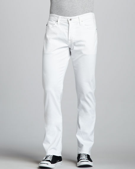 Protege Straight-Leg White Jeans