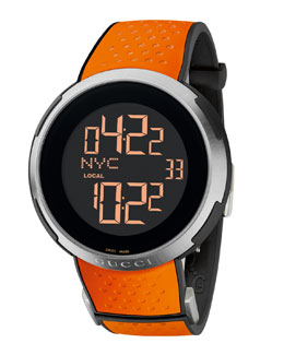 Gucci Digital Rubber Watch, Orange