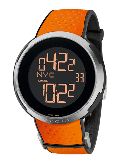 Digital Rubber Watch, Orange