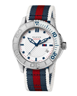 Gucci XL Sport Watch, Blue/Red/Blue