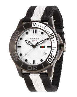 Gucci XL Sport Watch, Black/White