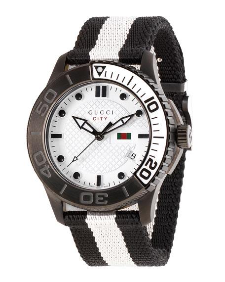 XL Sport Watch, Black/White