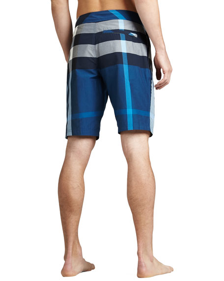 Check Boardshorts, Petrol Blue