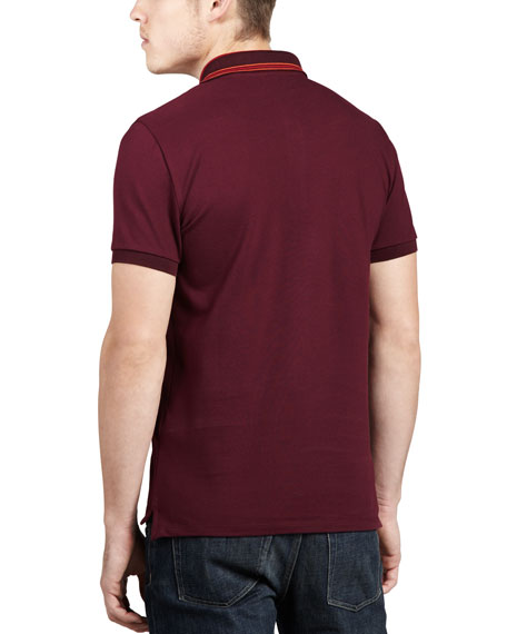 Tipped Pique Polo, Boysenberry