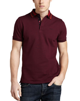 Burberry London Tipped Pique Polo, Boysenberry