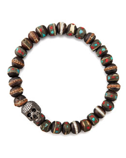 Tai Beaded Skull-Station Bracelet