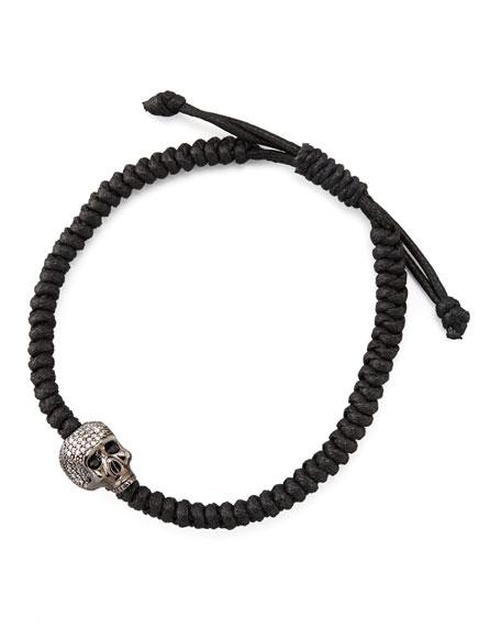 Woven Skull-Station Bracelet