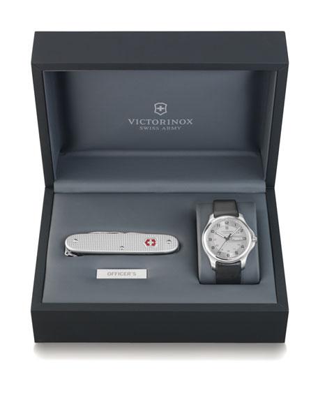 Officer's Watch & Knife Gift Set
