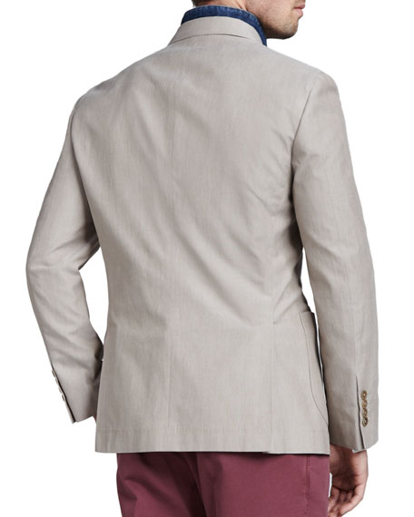 1.5 Breasted Cotton Blazer
