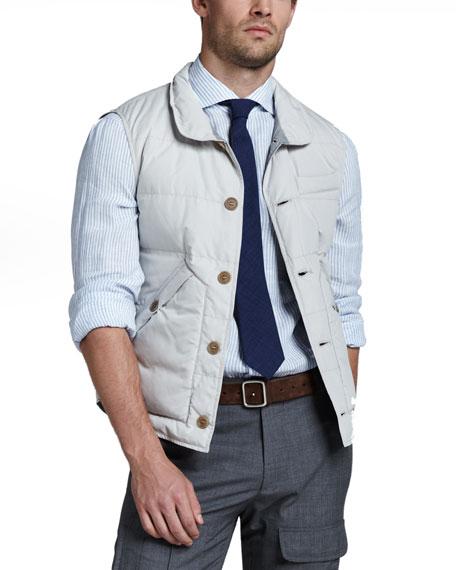 Shirt-Collar Puffer Vest