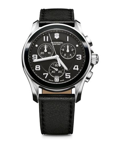 Victorinox Swiss Army Ceramic-Bezel Chronograph Watch