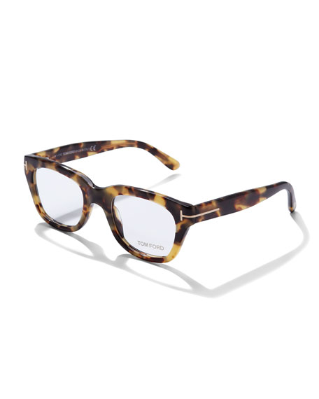 TOM FORD Large Havana Fashion Glasses, Tortoise