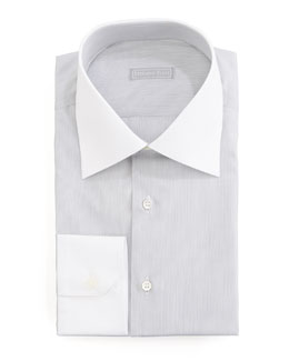 Stefano Ricci Micro-Stripe Dress Shirt