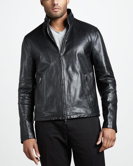 Slim Leather Jacket