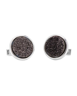 Cufflinks Inc. Druzy Cuff Links, Black