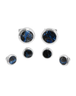 Ravi Ratan Lapis Cuff Links & Studs Set
