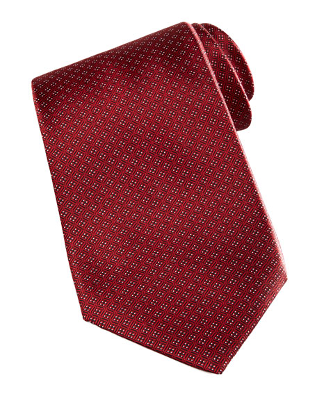 Square Neat Tie, Red