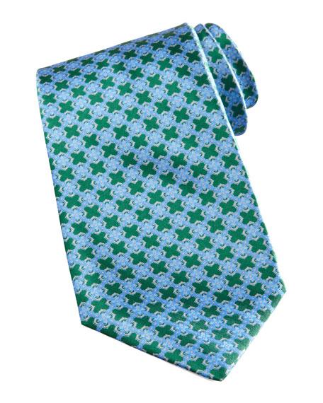 Chain-Link Medallion Tie, Green