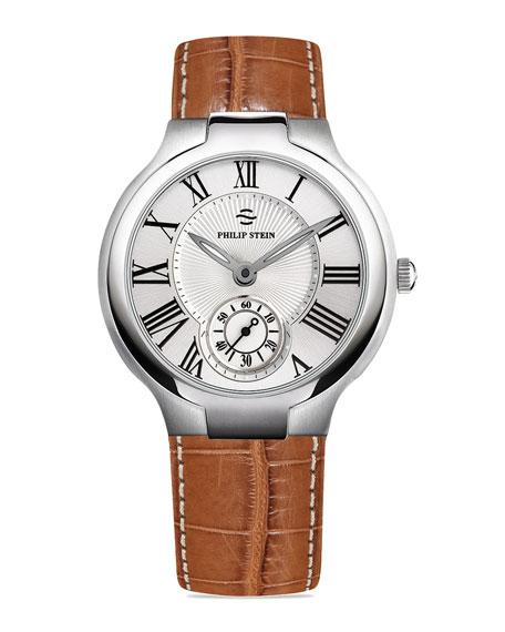 Signature Alligator-Strap Chronograph Watch