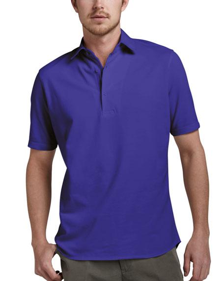 Pique-Knit Polo, Violet