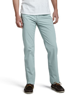 Loro Piana Delave Five-Pocket Pants, Green