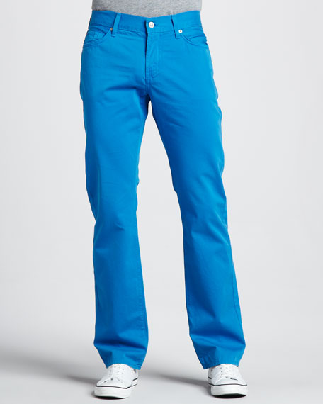 Slimmy Twill Pants, Aster Blue