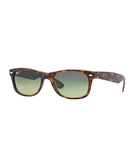 New Wayfarer Polarized Sunglasses, Havana