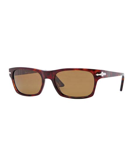 Square Plastic Sunglasses, Havana