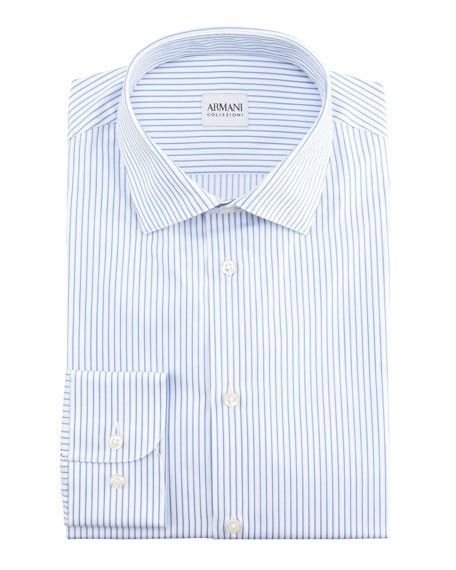 Stripe Dress Shirt, Blue/White