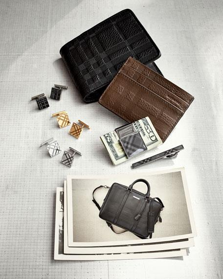 Check-Embossed Large Bi-Fold Wallet