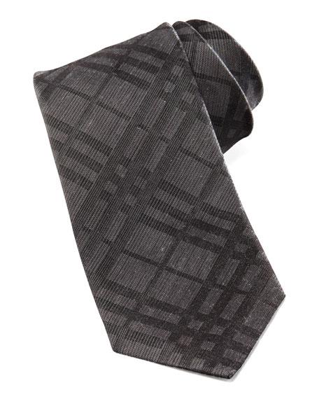 Skinny Check Silk-Linen Tie