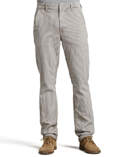 Joe's Jeans Slim Railroad-Stripe Canvas Pants