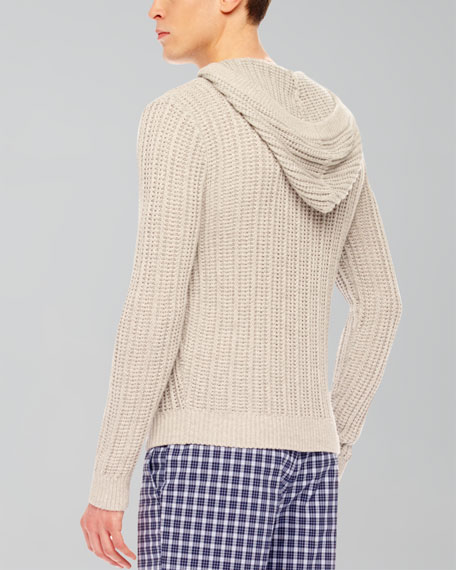 Ribbed Knit Pullover, Heather Gray