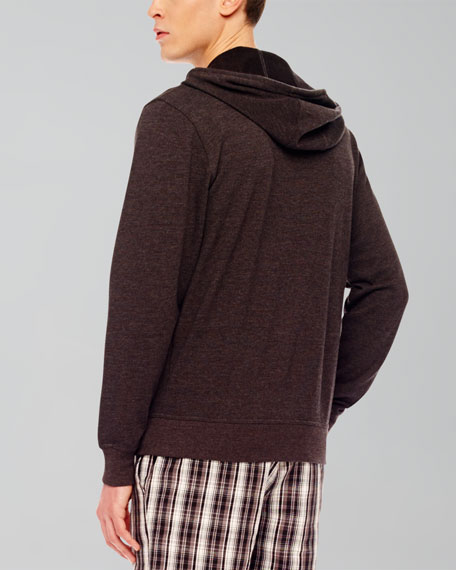 Hooded Melange Pullover
