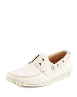 John Varvatos Star USA Schooner Boat Shoe, Tan