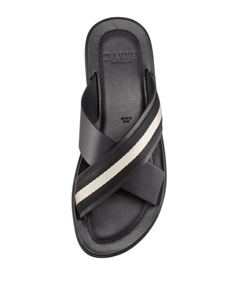 Briley Cross Web Sandals, Black