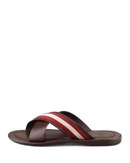 Briley Web Cross Sandal, Chocolate