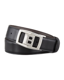 Bally Baldek Reversible Logo Belt, Black
