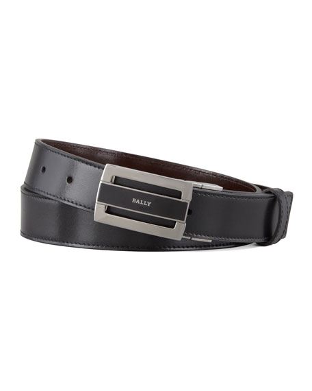 BallyFabazia Reversible Logo Belt, Brown