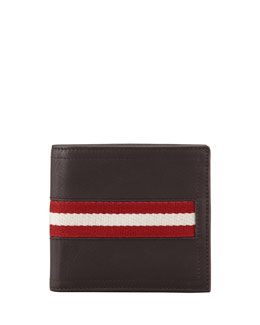 Bally Tye Web-Trim Wallet, Brown