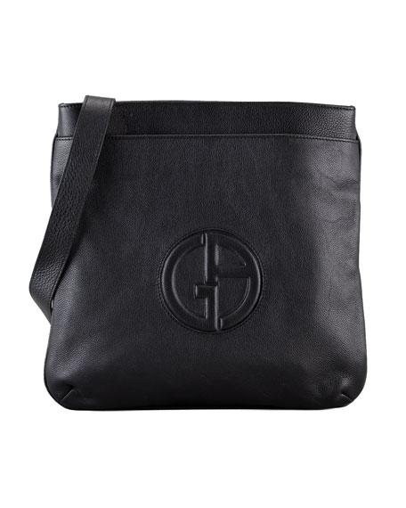 Men's Logo Messenger Bag, Black