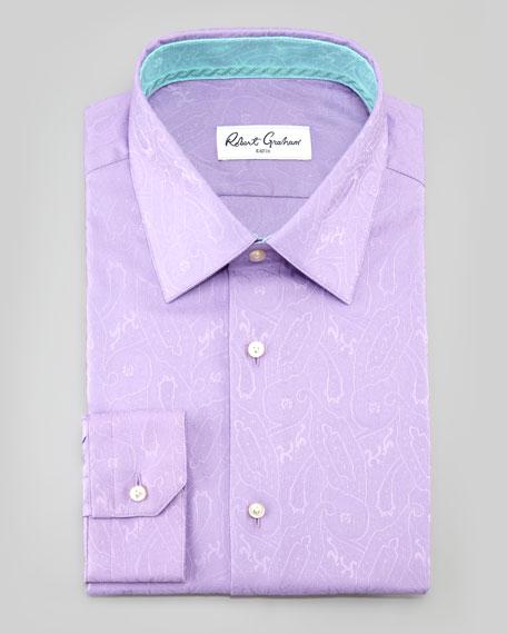 Bruce Paisley Dress Shirt, Lavender