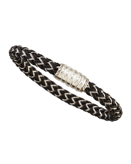 Bedeg Men's Nylon Cord Bracelet, Black