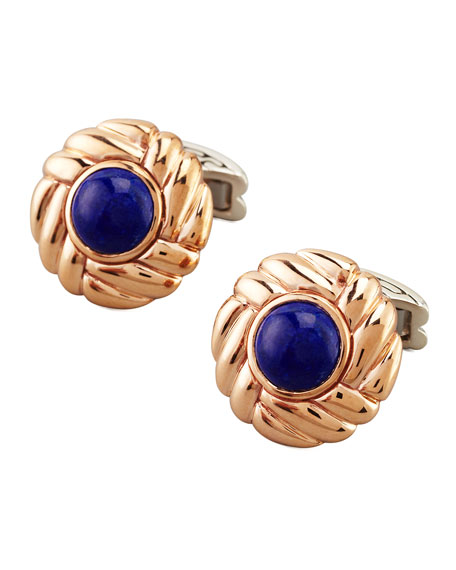 Batu Round Lapis Cuff Links