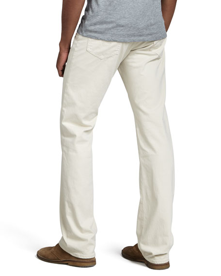 Protege Classic Straight Jeans, Ivory