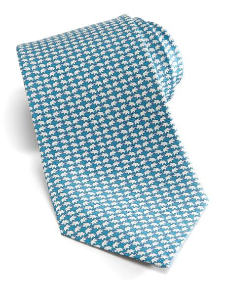 Rhino Silk Tie, Teal