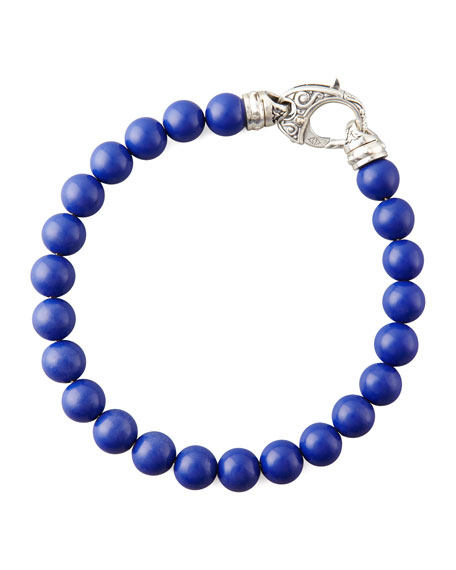LAPIS BEAD BRACELET 8MM