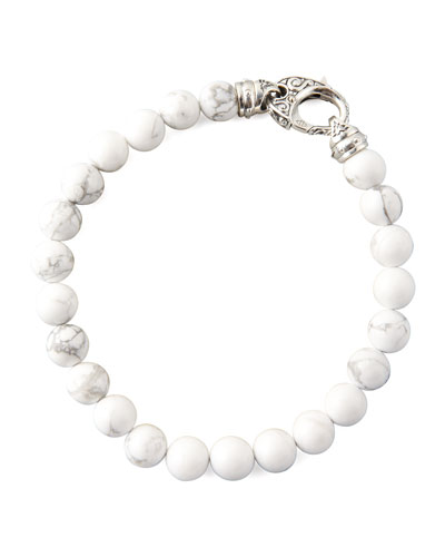 Beaded Howlite Bracelet, 8mm