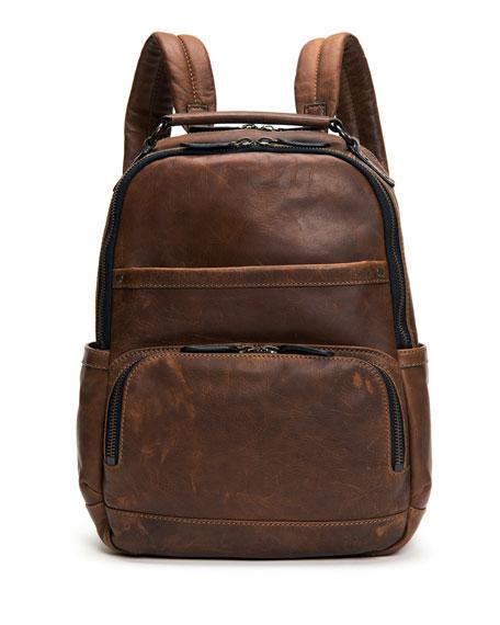 Frye Logan Men's Leather Backpack, Dark Brown