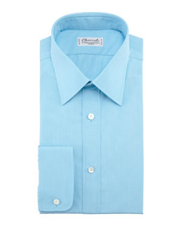 Charvet Solid Dress Shirt, Aqua